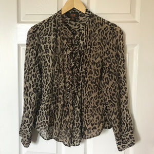 Victor Alfaro Animal Print Blouse